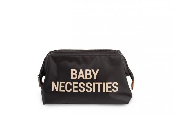 """Childhome - Kulturtasche """"Baby Necessities"""" - schwarz/gold"""