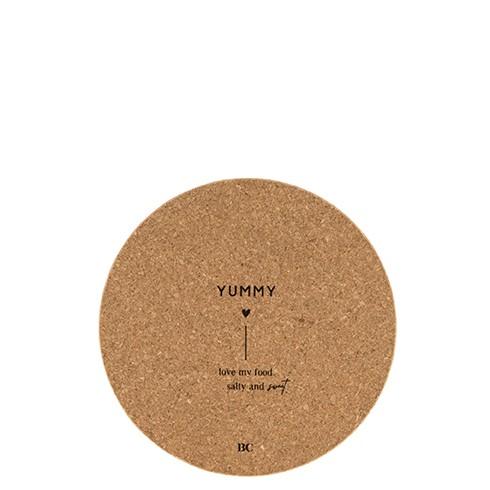 """Bastion Collections - Untersetzer Kork """"YUMMY"""" - 18 cm"""