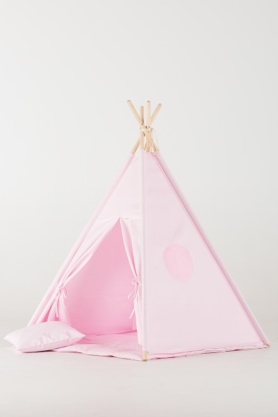 WigiWama - Tipi Set Plain-Collection - Rosa