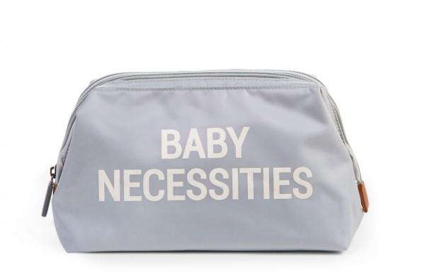 """Childhome - Kulturtasche """"Baby Necessities"""" - grau/altweiss"""
