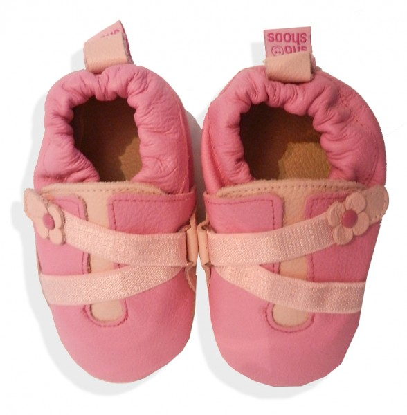 Weiche Krabbelschuhe für Babys Pink