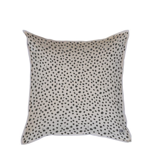 "Bastion Collections - Kissenhülle ""Happy Dots"" beige - 50x50 cm"