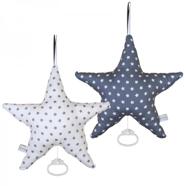 Spieluhr Stern Grau