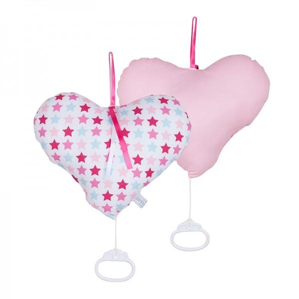 Spieluhr Herz Mixed Pink