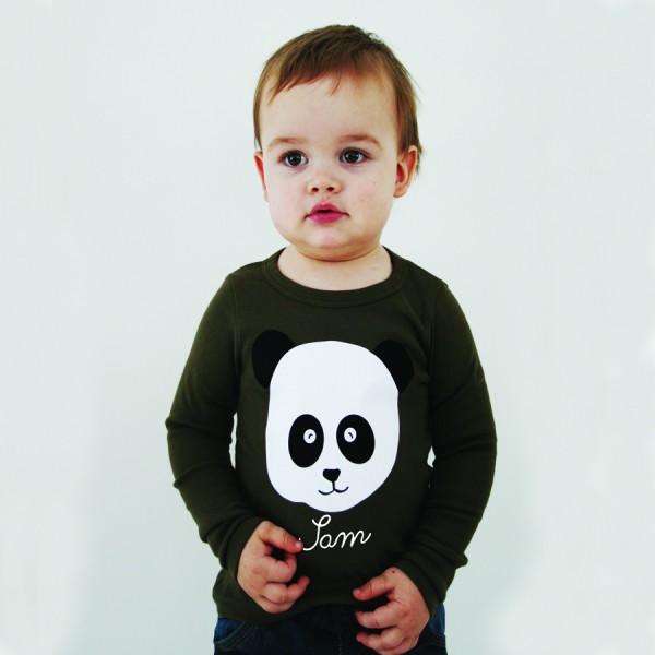 """Namensshirt """"Panda"""" in vielen Farben"""