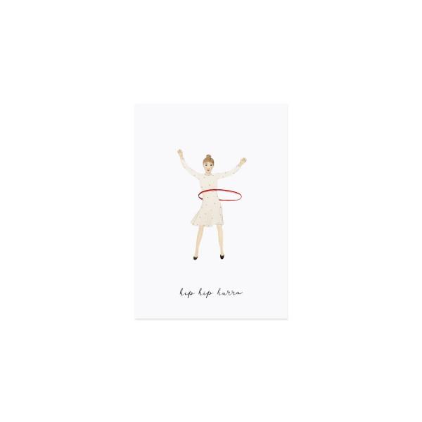 """Eulenschnitt - Postkarte """"Hip Hip Hurra"""""""