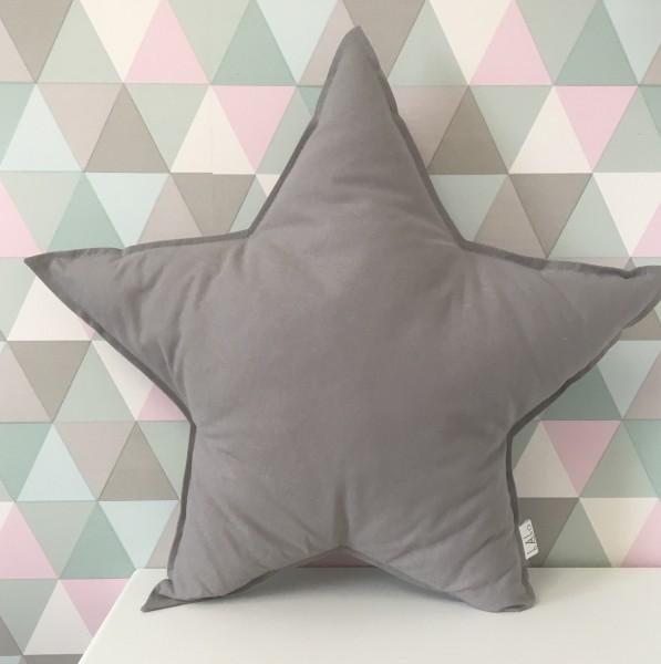 kissen stern dunkles grau meine kleine liebe. Black Bedroom Furniture Sets. Home Design Ideas