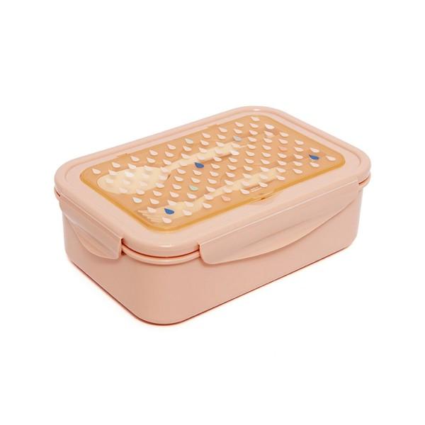 """Petit Monkey - Bento Lunchbox """"Tropfen apricot"""""""