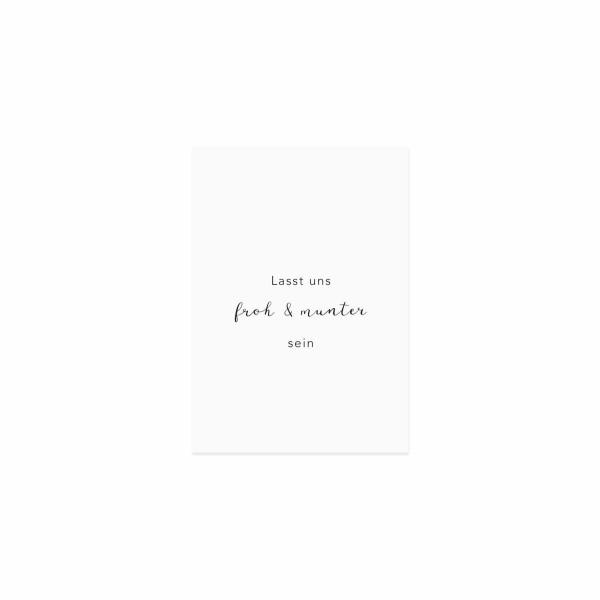"""Eulenschnitt - Postkarte """"Lasst uns froh und munter sein"""""""