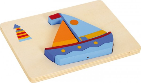 Holzpuzzle Segelboot