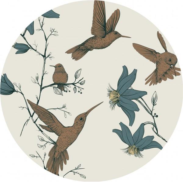 """everleigh & me - Splat Mat / Bodenschutzmatte """"Hummingbird Sand - Kolibri Sand"""""""
