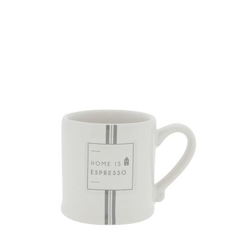 "Bastion Collections - Espressotasse ""Home is Espresso"" - weiß/grau"