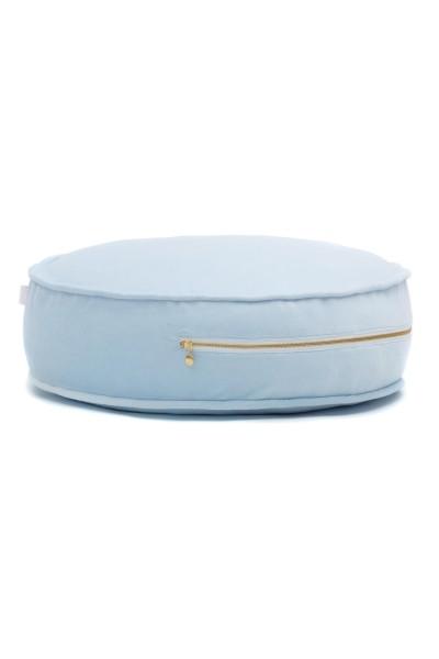WigiWama - Sitzkissen rund - Velvet Collection - Baby Blau