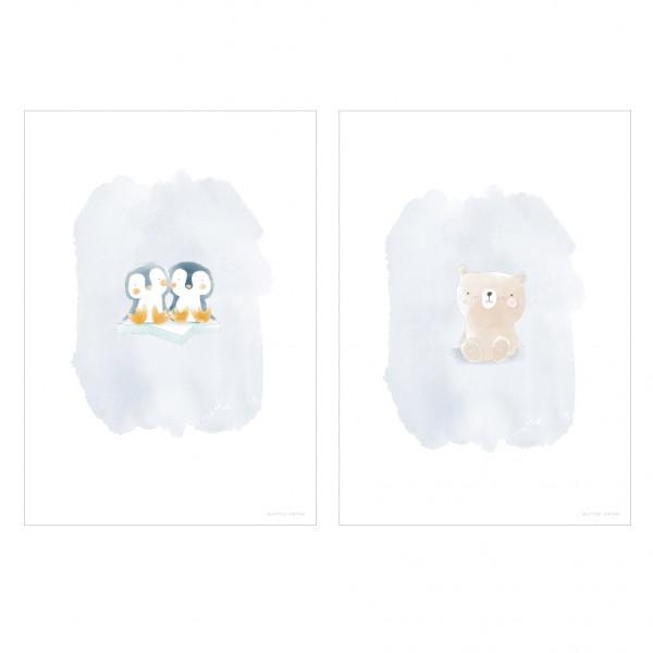 """Little Dutch - Wendeposter """"Bär & Pinguine"""""""