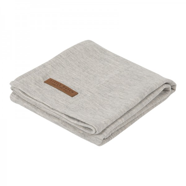 "Little Dutch - Swaddle Tuch ""Pure Grey"" 120 x 120 cm"
