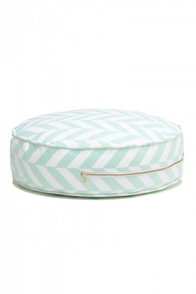 WigiWama - Sitzkissen rund - Tropical Collection - Herringbone Mint