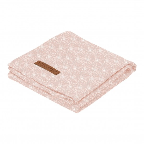"Little Duch - Swaddle Tuch ""Lily Leaves Pink"" 120 x 120 cm"