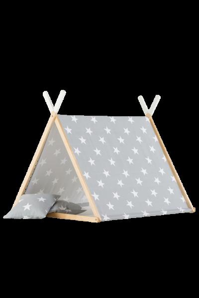 WigiWama - Spielhaus Set Sterne Grau