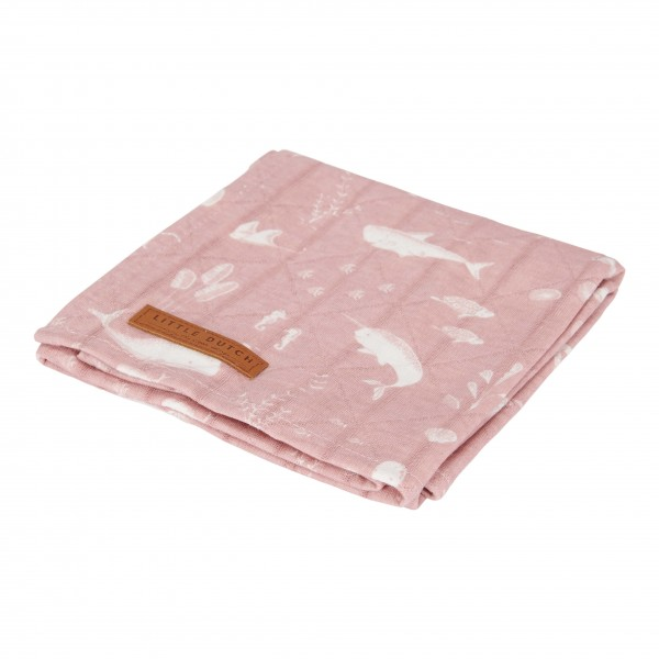 "Little Duch - Swaddle Tuch ""Ocean Pink"" 120 x 120 cm"