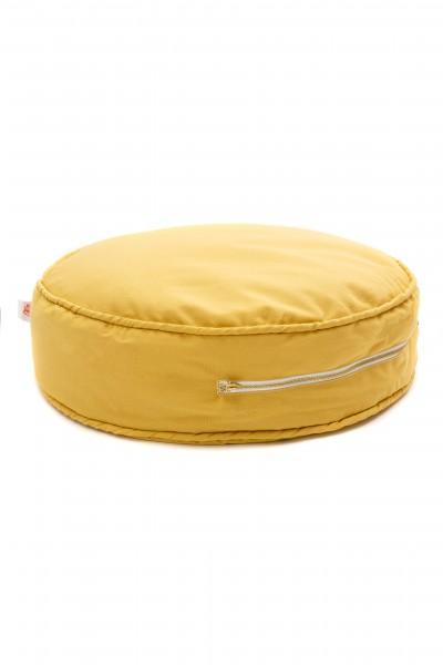WigiWama - Sitzkissen rund Plain Collection - Gelb