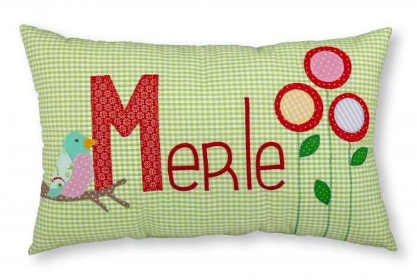 "crepes suzette - Namenskissen ""Merle"""