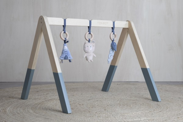 "Little Dutch - Holz Babygym - Spieltrapez ""blau"""