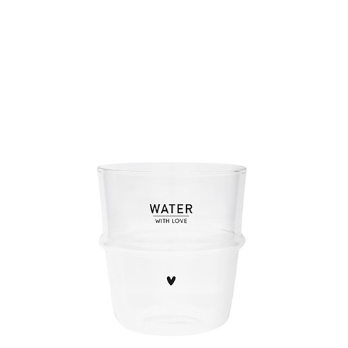 """Bastion Collections - Trinkglas """"Water with Love"""""""