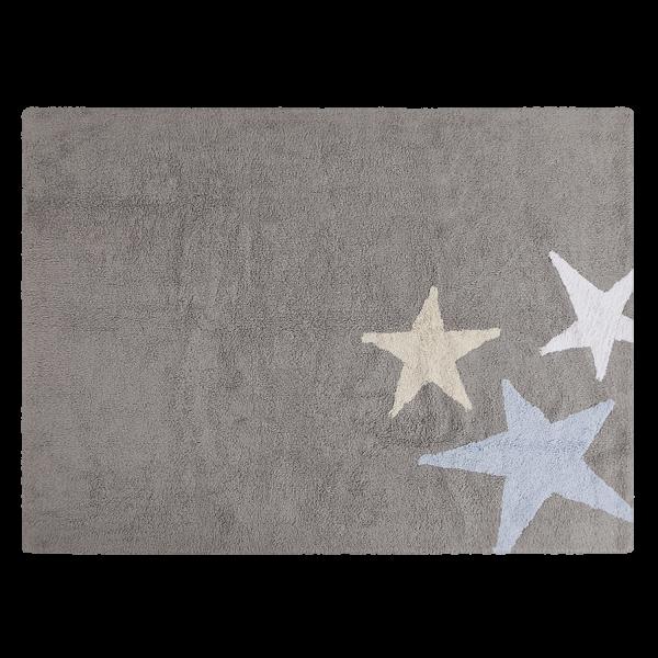 Teppich für Kinderzimmer Sterne Grau Blau | Meine kleine Liebe
