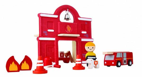 PlanToys - Feuerwehrstation