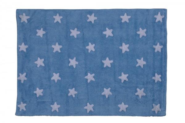 Kinderzimmerteppich Sterne Hellblau