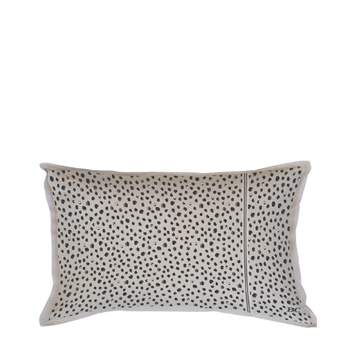 "Bastion Collections - Kissen mit Inlet ""Happy Dots"" beige - 35x70 cm"