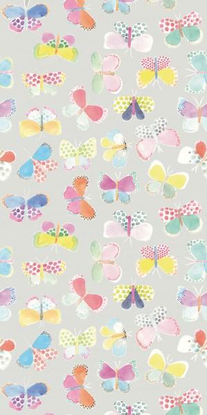 Tapeten Bild Butterflys Grau 280 cm x 139,50 cm