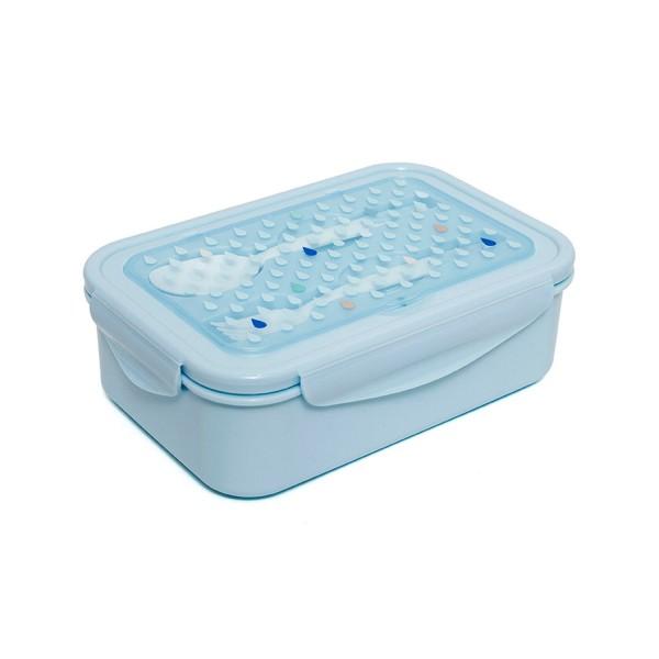 "Petit Monkey - Bento Lunchbox ""Tropfen blau"""