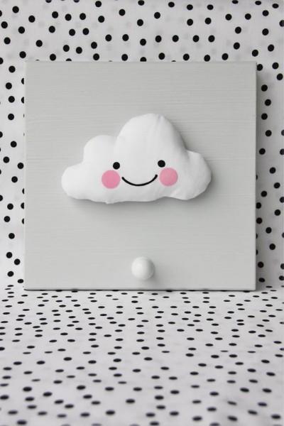 Einzelgarderobe Wolken Grau