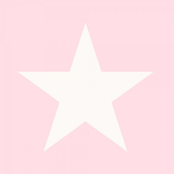 Tapete Sterne groß Rosa
