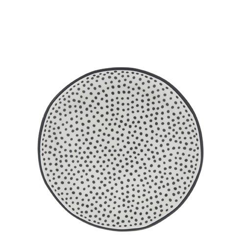"""Bastion Collections - Teller """"little Dots"""" 16 cm - weiß/schwarz"""