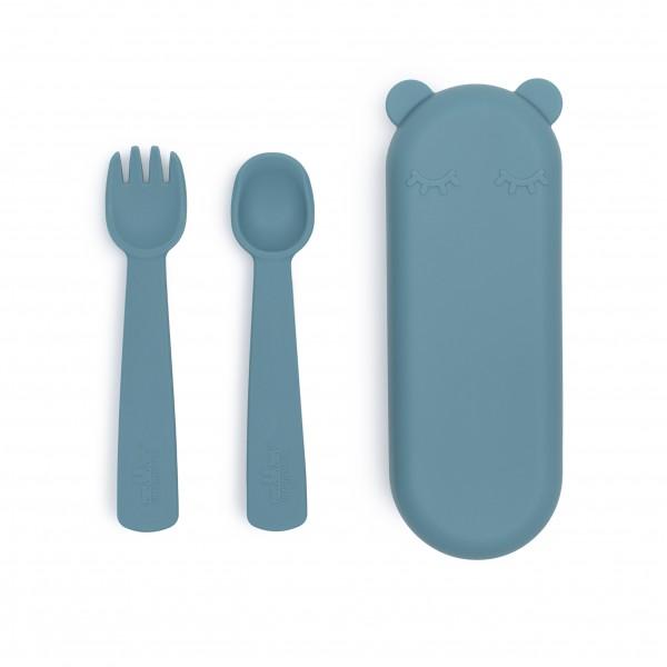 "We Might Be Tiny - Besteck-Set ""Feedie Fork & Spoon"" blue dus / petrolblauk"
