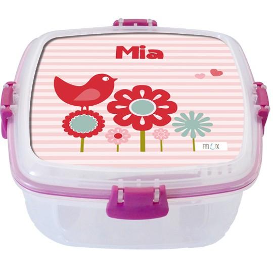 """Lunchbox groß """"Vogel Piep"""" - personalisierbar"""