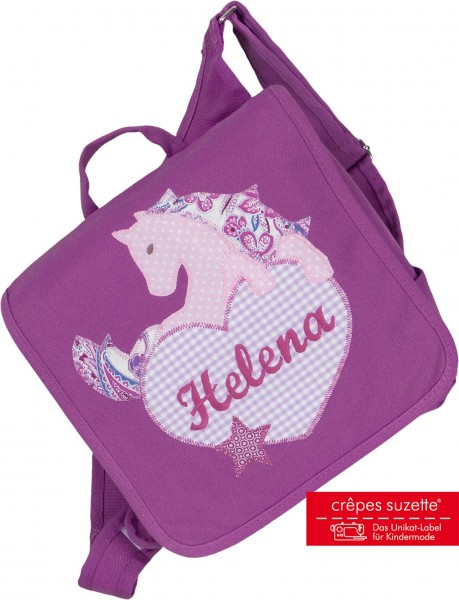 Kindergartentasche Pferd mit Herz