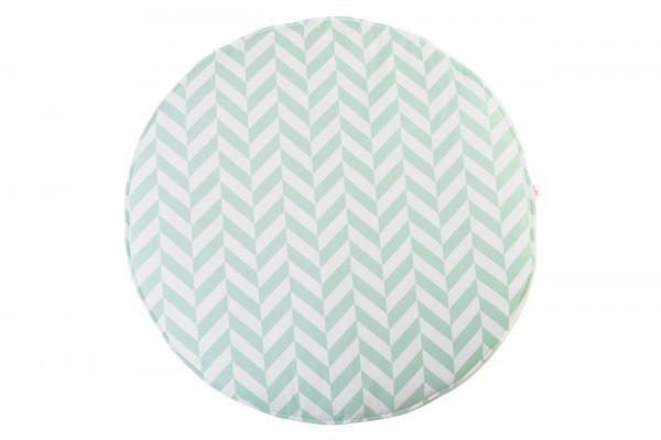 WigiWama - Spielmatte rund - Tropical Collection - Herringbone Mint
