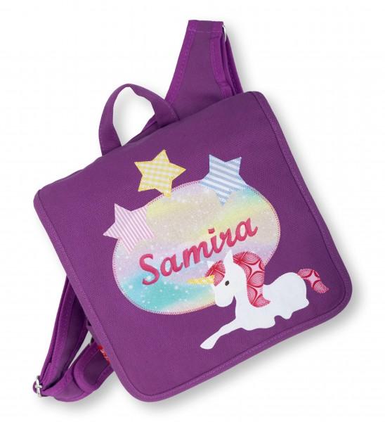 """crepes suzette - Kindergartentasche """"Samira"""" brombeere"""