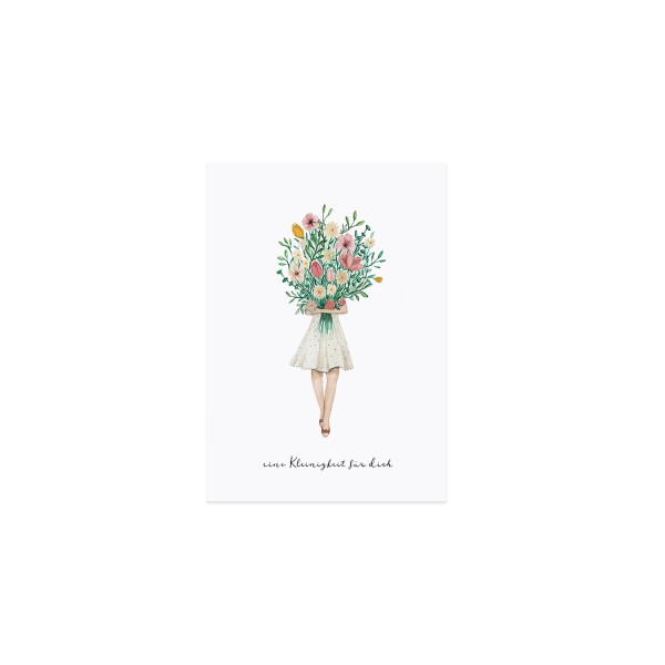 Eulenschnitt - Postkarte Blumenmädchen