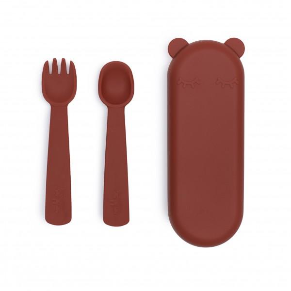 "We Might Be Tiny - Besteck-Set ""Feedie Fork & Spoon"" rust"