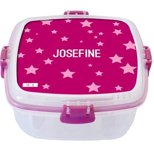 """Lunchbox groß """"Sterne"""" pink - personalisierbar"""
