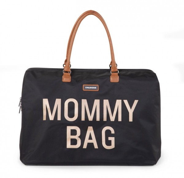 "Childhome - Tasche ""Mommy Bag"" - schwarz-gold"
