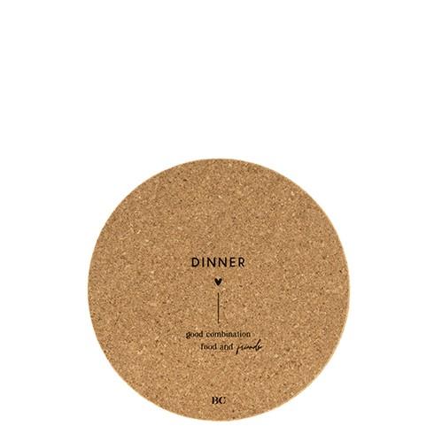 """Bastion Collections - Untersetzer Kork """"DINNER"""" - 18 cm"""