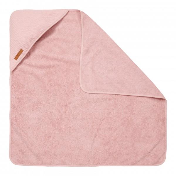 """Little Dutch - Kapuzenhandtuch """"Pure Pink"""" 75 x 75 cm"""