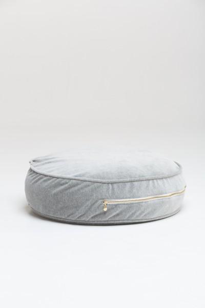 WigiWama - Sitzkissen rund Velvet Collection - Grau
