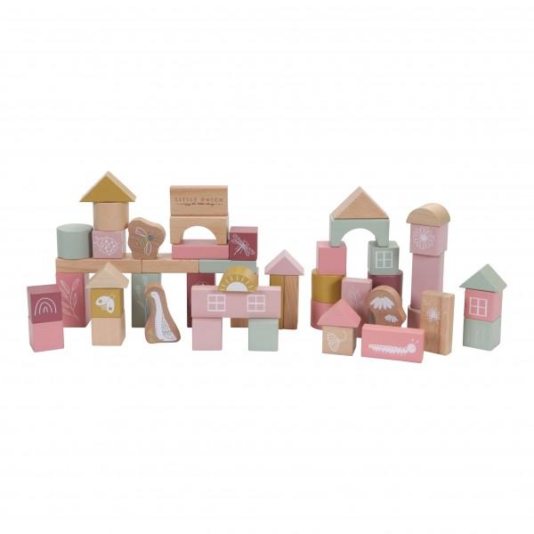 """Little Dutch - Holzbausteine in Box """"Pink"""""""
