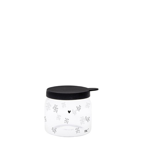 "Bastion Collections - Vorratsglas ""Heartflowers"" XXS - schwarz"